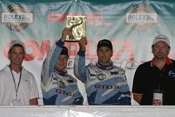 GT podium: class winner Jan Magnussen and Paul Edwards