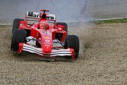 Michael Schumacher mit Abflug