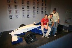 Nigel Mansell avec ses deux fils Greg et Leo