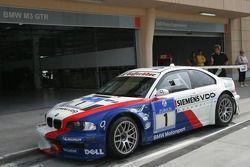 Nigel Mansell avec la BMW d'essai
