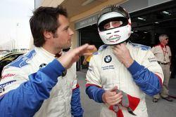 Nigel Mansell et Andy Priaulx avec la BMW d'essai