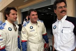 La BMW d'essai : Nigel Mansell, Andy Priaulx et Dr Mario Theissen