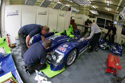 L'équipe Rollcentre Racing au travail