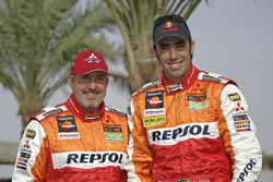 Team Repsol Mitsubishi Ralliart: Nani Roma and Henri Magne
