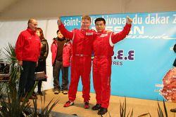 Présentation de l'équipe Nissan à Dessoude: Denis Schurger et Zhou Yong