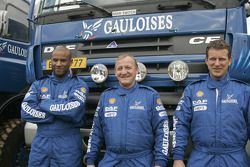 Team de Rooy: Hugo Duisters, Yvo Geusens et Mohamed El Bouzidi