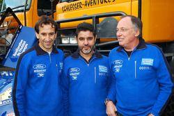 Team Gauloises Schlesser: les pilotes Jean-Louis Schlesser, Josep-Maria Servia et Thierry Magnaldi