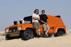 Team Dakar Sport: Bob Ten Harkel and Herman Vaanholt pose with the Team Dakar Sport Bowler