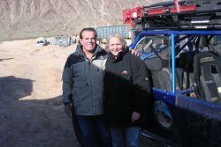 Vanguard Racing: Ronn Bailey (pilote) et Nancy Knapp Schilke (co-pilote) avant l'étape du matin