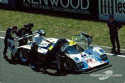 #9 Courage C32LM: Jean-Louis Ricci, Philippe Olczyk, Andy Evans sur la grille de départ