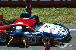 #75 Cunningham Racing Nissan 300ZX Turbo: Steve Millen, Johnny O'Connell, John Morton sur la grille de départ