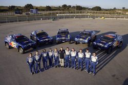 Volkswagen Motorsport en el Jarama: Jutta Kleinschmidt, Fabrizia Pons, Mark Miller, Dirk von Zitzewi