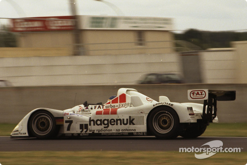 #7 Joest Racing TWR, Porsche WSC 95: Michele Alboreto, Stefan Johansson, Tom Kristensen