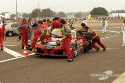 Problemas para #78 Elf Haberthur Racing Porsche 911 GT2: Michel Neugarten, Jean-Claude Lagniez, Guy