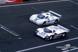 #1 Rothmans Porsche Porsche 962C: Jacky Ickx, Jochen Mass, #44 Jaguar Group 44 Jaguar XJR5: Bob Tullius, Chip Robinson, Claude Ballot-Léna