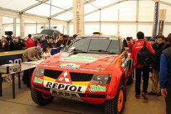 Team Repsol Mitsubishi Ralliart at scrutineering