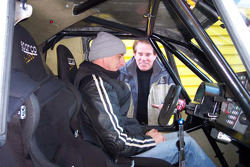 Vanguard Racing test in France: Ronn Bailey gets ready to test the 2006 Vanguard Racing Rally Car