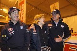 Bruno Saby, Tina Thorner y Carlos Sainz