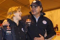 Tina Thorner y Carlos Sainz