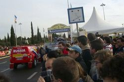 Fans cheer the competitors