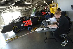 Tommy Baldwin checks out the test data