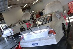 A pair of Wood Brothers Racing Ford Fusions