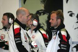 Jock Clear and Rubens Barrichello