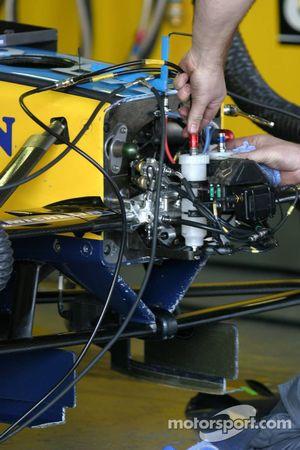 Renault F1 team member at work