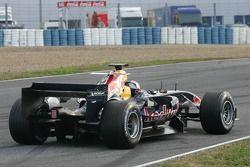 Christian Klien stopped on the track