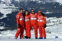 Marc Gene, Luca Badoer, Michael Schumacher et Felipe Massa