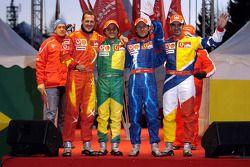 Michael Schumacher, Felipe Massa, Luca Badoer et Marc Gene