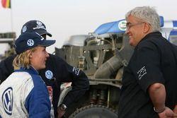 Jutta Kleinschmidt y Peter Utoft
