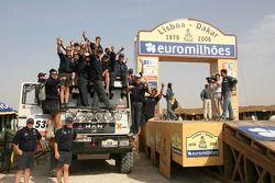 Podium Camions : Peter Reif, Gunter Pochlbauer et Stefan Huber