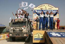 Podium Camions: Klaus Leihener, Thomas Baumann et Thorsten Goldberg