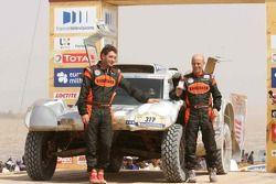 Car category podium: Philippe Gache and Jean-Pierre Garcin