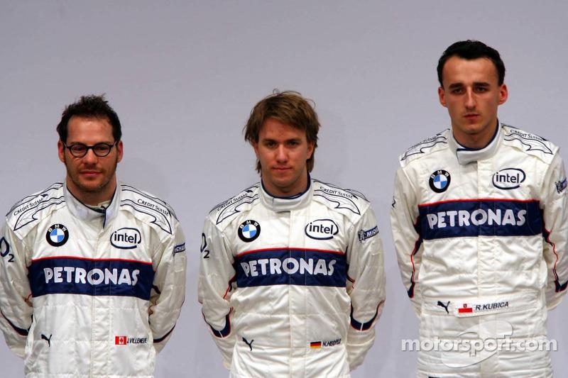Jacques Villeneuve, Nick Heidfeld ve Robert Kubica