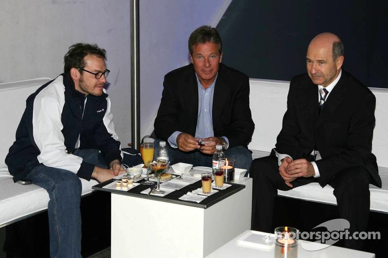 Jacques Villeneuve, Craig Pollock and Peter Sauber
