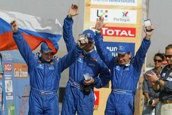 Podium camions: Sergey Reshetnikov, Stanislav Konopko et Eduard Nikolaev