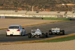 Nick Heidfeld BMW Sauber F3.06, Jorg Muller BMW 320si WTCC, Robert Kubica BMW 802