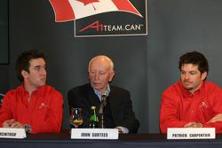 Sean McIntosh, John Surtees and Patrick Carpentier