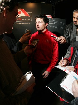 Patrick Carpentier talks to members of the Canadian press