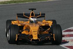 Pedro de la Rosa prova la nuova McLaren MP4-21