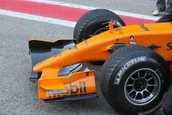 Detail van de nieuwe McLaren MP4-21