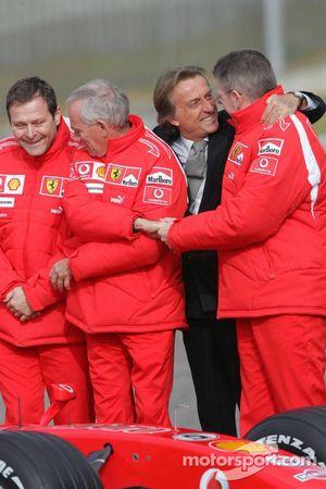 Gilles Simon, Also Costa, Rory Byrne et Ross Brawn