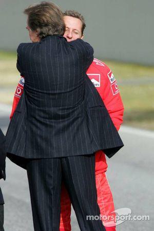 Luca di Montezemelo et Michael Schumacher