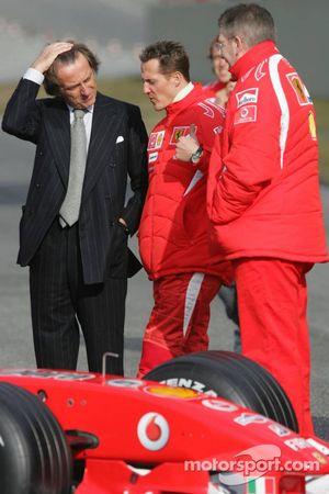 Luca di Montezemelo, Michael Schumacher et Ross Brawn