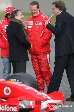 Felipe Massa, Jean Todt, Michael Schumacher et Luca di Montezemelo