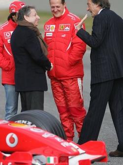 Felipe Massa, Jean Todt, Michael Schumacher ve Luca di Montezemelo