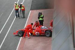 Michael Schumacher de regreso a los pits