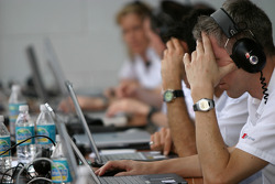 Audi engineers at work